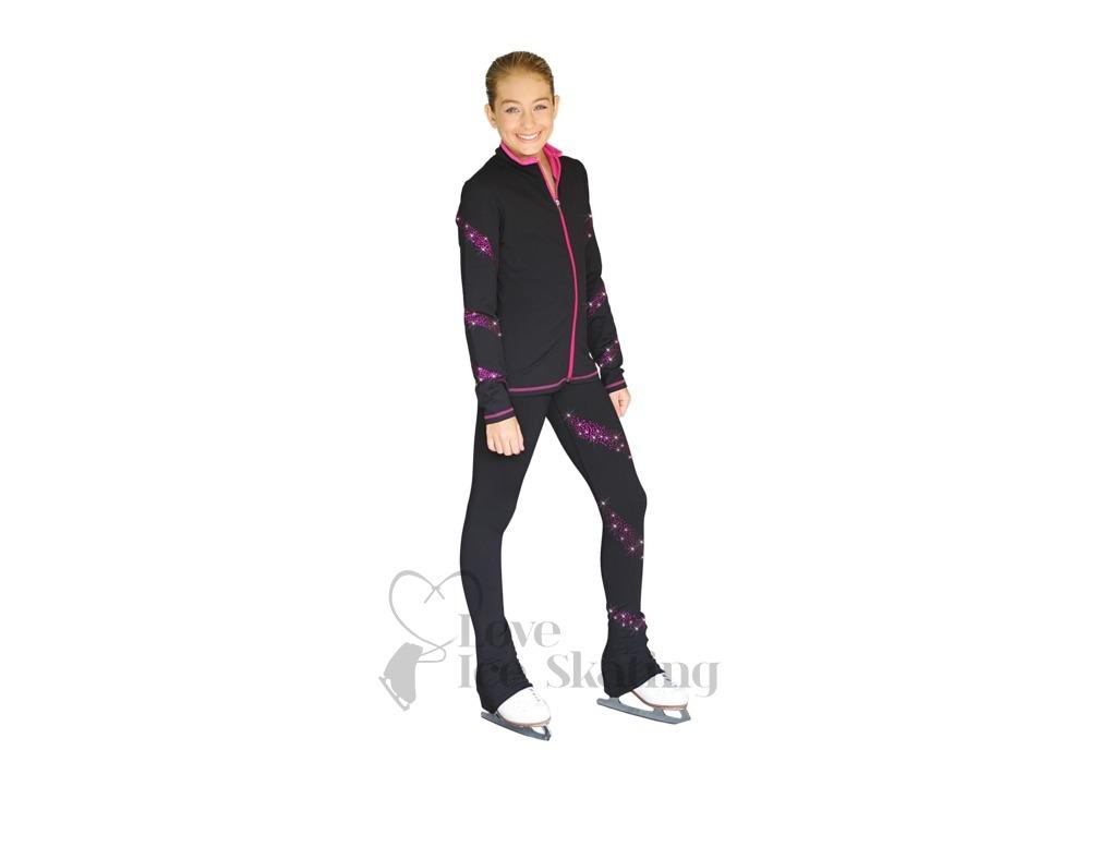 5a96c8e78787f Chloe Noel Turquoise Fuchsia Crystal Spiral Jacket & Leggings Combo Set