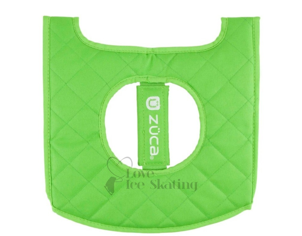 Zuca Seat Cushion Reversible Green Blk Love Ice Skating