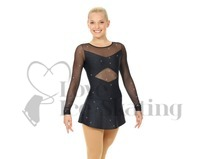 Mondor Black with Silver Fleck Figure Skating Dress