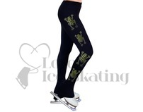 NY2 Ice Skating Leggings Rhinestone Frogs