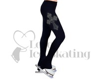 NY2 Ice Skating Leggings Rhinestone Cross