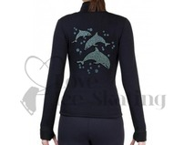 Figure Skating Polartec Fleece Jacket Rhinestone Dolphins