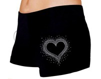 Skating Shorts Rhinestone Heart