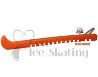 Guardog Figure Neon Orange Ice Skate Blade Guards