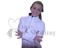 JIV Figure Skating Training Jacket White