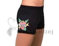Chloe Noel Practice Ice skating Shorts Black with Rhinestone True Love
