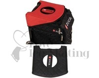 Zuca Seat Cushion Black Red Reversible