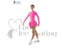 Ice Skating Dress Fluorescent Pink by Tappers and Pointers
