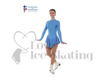 Ice Skating Dress Cornflower Blue by Tappers and Pointers