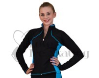Ice Skating Jacket JS08 Supplex Turquoise by Chloe Noel