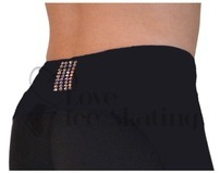 "Chloe Noel P22 Black 3"" Waist Band Ice Skating Leggings with Swarovski AB Crystals"
