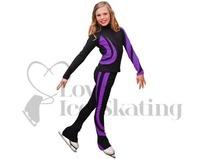 Chloe Noel J26 Ice Skating Jacket Purple w Swarovski crystals