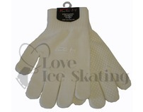 White Ice Skating Ice H Gripping Gloves