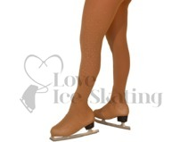 Ice Skating Tights Over the boot Medium Tan with  AB Crystals down one leg