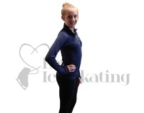 JIV Figure Skating Training Jacket Dark Blue Adult Large