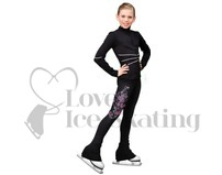 Chloe Noel  P86 Figure Skating Leggins with Butterfly Rhinestones