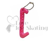 Cerise Ice Skate Guard Keyring
