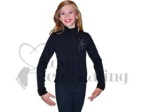Chloe Noel J11 Figure Skating Polar Fleece Jacket with Crystal Skater