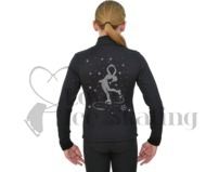 Ice Skating J11 Polar Fleece Jacket with Layback Skater with Swarovski Crystals