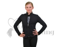 Chloe Noel Figure Skating Polar Fleece Fitted Jacket - J11 Black