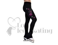 Ice Skating Leggings Crystal Hearts w Swarovski Crysyals by Chloe Noel P86-HT