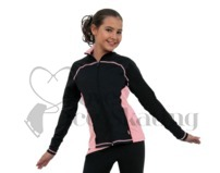 Chloe Noel J06 Princess Seam Ice Skating Jacket Pink with Swarovski Crystals