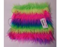 Fuzzy Soakers Towel Rainbow Crazy Fur