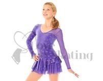 Mondor Ice Skating Dress Purple with Glitter Hearts