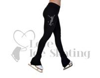 Chloe Noel P22 All Black Ice Skating Pants w Rhinestone Skater MJM