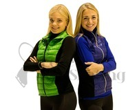 Jiv Blue Figure Skating Training Gillet / Body Warmer