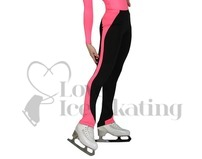 JIV Girls Ice Skating Training Leggings Hot Pink/black
