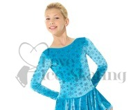 Blue Snowflake Ice Skating Dress by Mondor 2747 FL