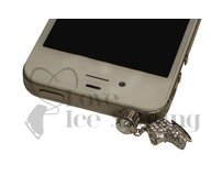 Crystal Ice Skate Phone Charm for Headphone Jack