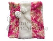 Ice Skate Pink & White Blade Wipe Cloth by Chloe Noel