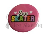 Ice Skater Rainbow on Pink