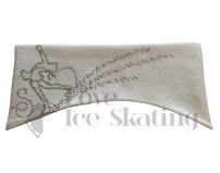 Sagester White Ice Skating Layback Headband in Swarovski Crystals