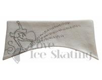 Sagester White Ice Skating Layback Headband in Swarovski Crystals
