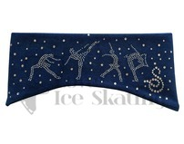 Sagester Royal Blue Ice Skating Swarovski Crystals Headband