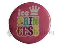 Ice Princess Rainbow on Pink Badge
