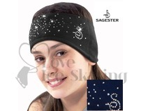 Sagester Blue Figure Skating Headband with Swarovski Crystals