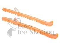 Ice Skate Figure Blade Guards Clear Peach by A&R