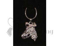 Ice Skates Clear & AB Crystal Pendant Necklace