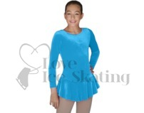 Velvet Ice Skating Dress by Chloenoel DLV627 LB Light Blue
