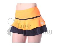 Thuono Hello Thermal Neon Orange Ice skating Skirt