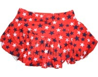 Chloe Noel  York Flare Ice Skating Skirt K02 Red with Stars
