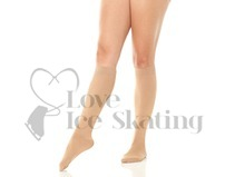 Mondor 104 Knee High Meryl Ice Skating Socks Caramel 2-Pack