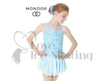 Mondor 12916 Blue Lace Figure Skating Dress
