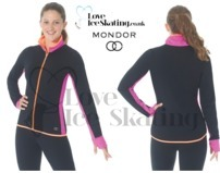 Mondor 4836 Figure Ice Skating Jacket Black Cherry Inserts