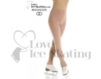 Mondor 3303 Footless Bamboo Ice Skating Tights in Caramel
