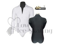 Men's Black Ice Skating Dress Shirt Unitard